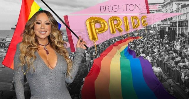Mariah Carey Brighton Pride