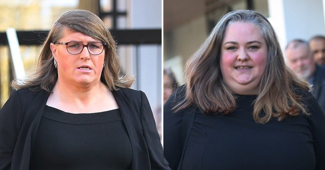 Stephanie Hayden (left) who says 'transphobic' Kate Scottow 'violated her dignity as a woman' with offensive messages on Twitter