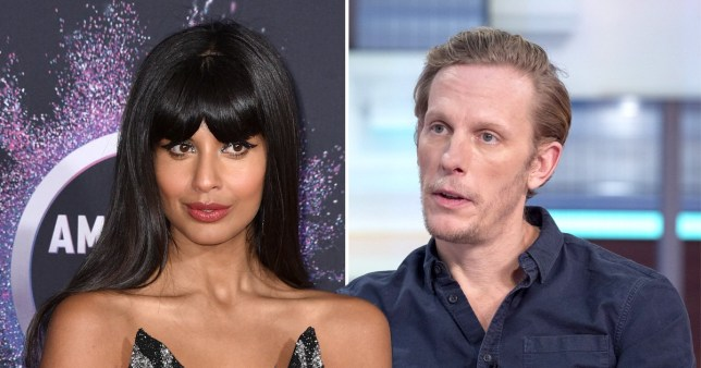 Jameela Jamil and Laurence Fox