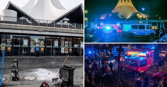 Composite of Berlin nightclub shooting