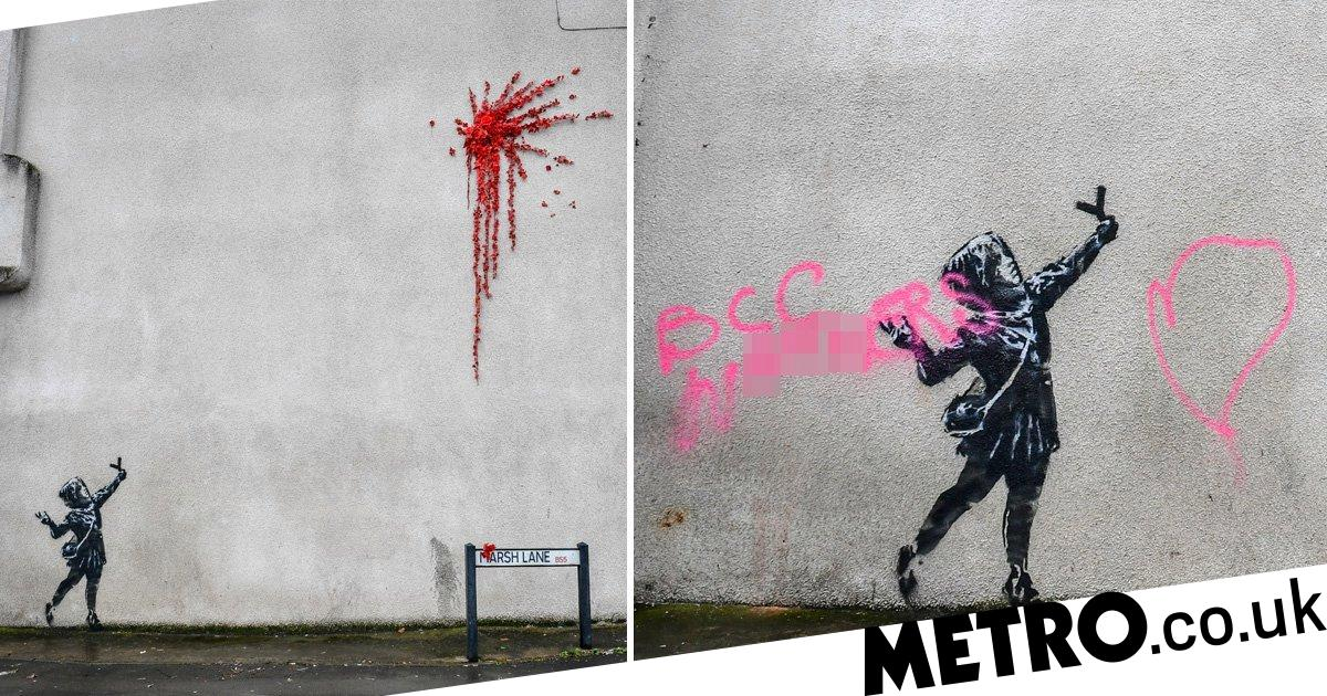 Banksy is 'kind of glad' new graffiti was vandalised within 48 hours