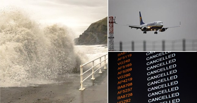 170 flights cancelled due to Storm Dennis