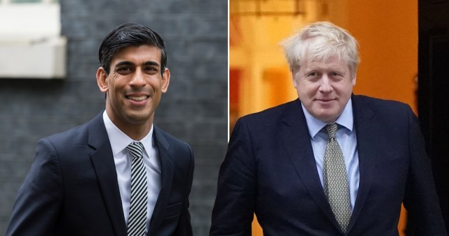 Composite photo of Rishi Sunak and Boris Johnson