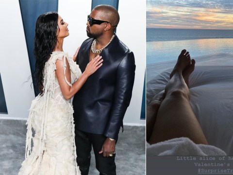 Kim Kardashian whisked away on surprise holiday by Kanye West for Valentine's Day