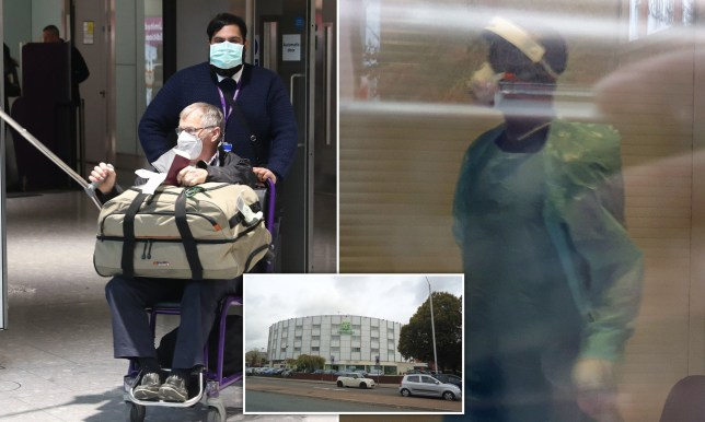 The Holiday Inn Ariel Hotel has been block booked and is reportedly being used as a coronavirus quarantine