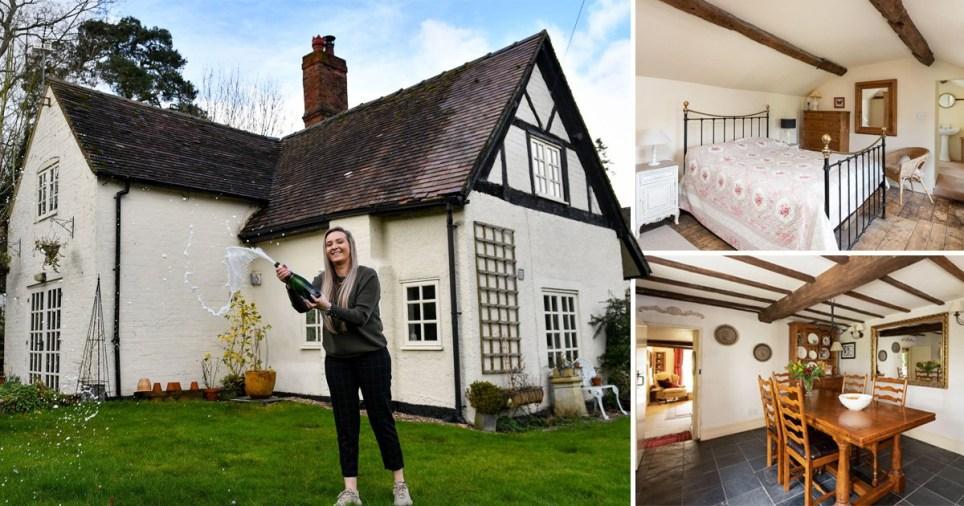 Jemma Nicklin,23, won a £50,000 house in a property raffle