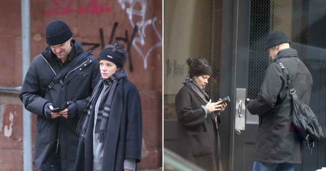 Lily Allen and David Harbour in New York