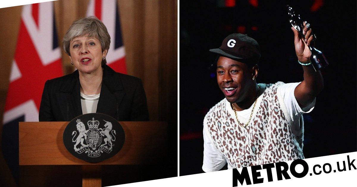 Brit Awards 2020: Tyler, The Creator slams Theresa May for banning him from UK