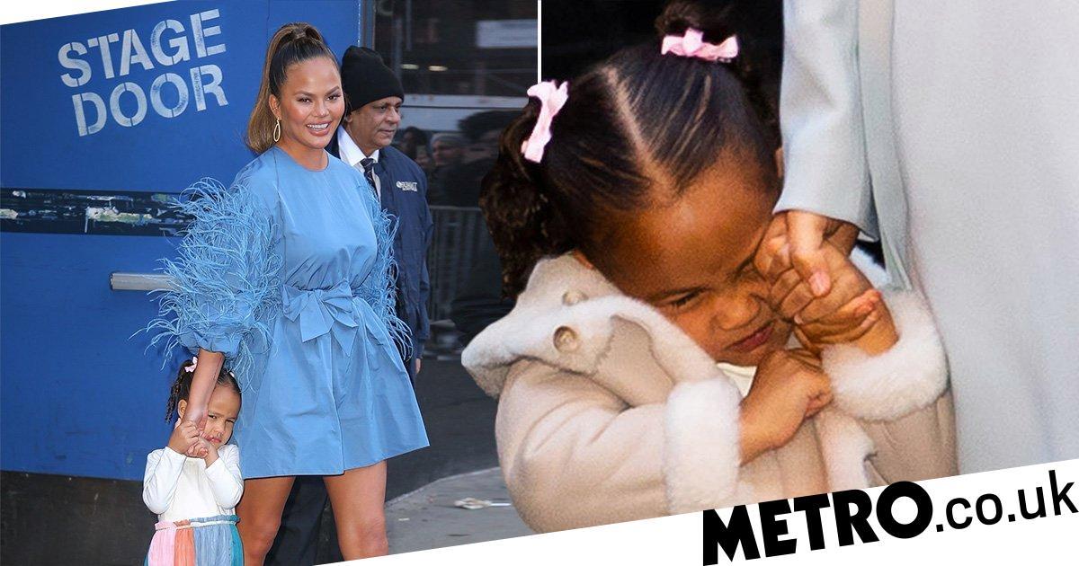 Chrissy Teigen's daughter Luna is in no mood for paparazzi