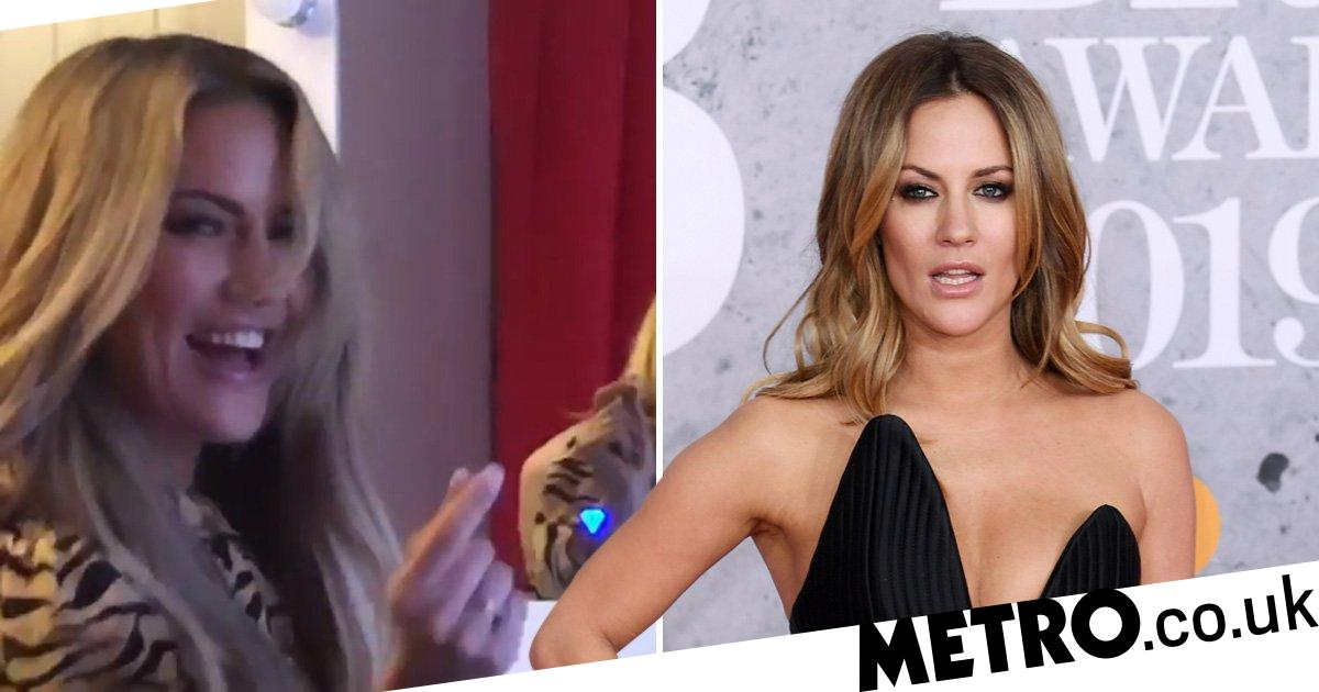 Caroline Flack lip syncs to The Piña Colada Song in video shared by manager