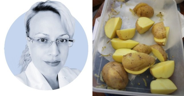 Don't treat your piles by shoving frozen potatoes up your bum