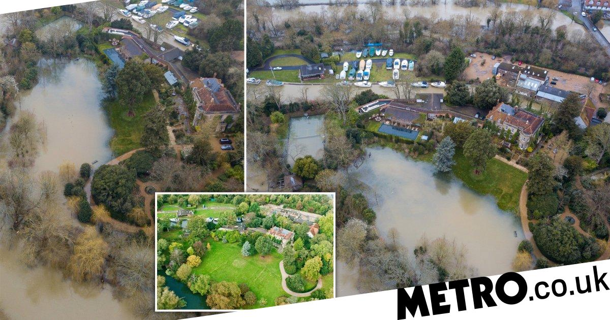George and Amal Clooney's £12m mansion left underwater due to flooding