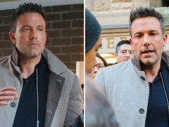 Ben Affleck insists he is not on any dating apps as he's greeted by fans in New York