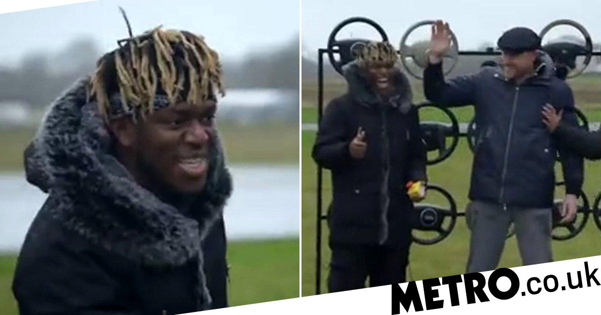 KSI makes Top Gear debut to tackle Paddy McGuinness in Air Bag Challenge
