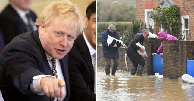 Boris not visits flood town