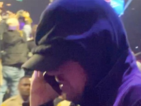 Leonardo DiCaprio's attempts at going incognito in hood and baseball cap at Tyson Fury fight are well and truly rumbled
