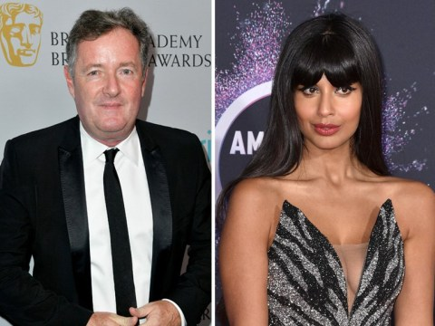 Jameela Jamil hits back at Piers Morgan for sharing Caroline Flack's DMs about The Good Place star as feud escalates