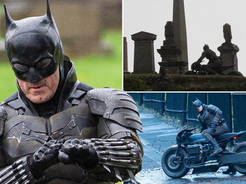 Robert Pattinson's Batman stunt double crashes bike during filming chase scene in Glasgow