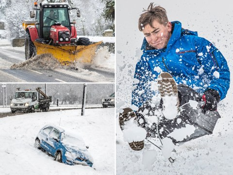 Snow brings chaos across large parts of UK as winter tightens its grip