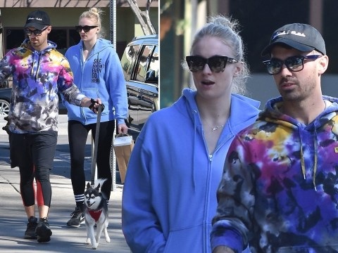 Sophie Turner and husband Joe Jonas have cute day out with their dogs amid 'pregnancy' rumours