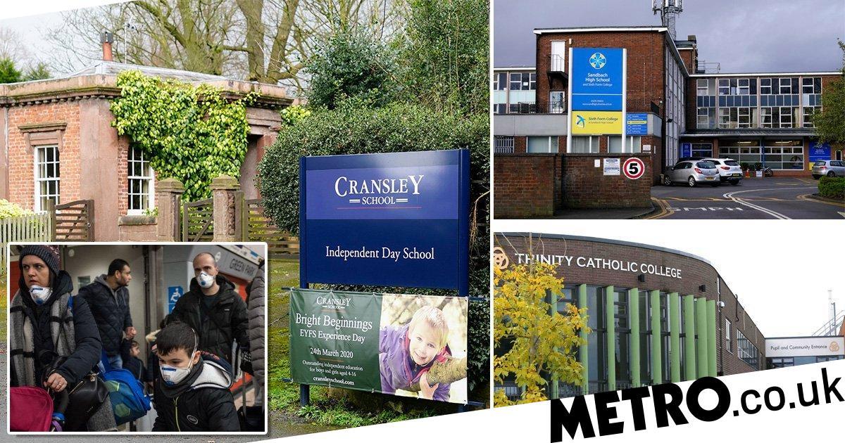 Dozens of schools close over coronavirus as pupils return from holidays