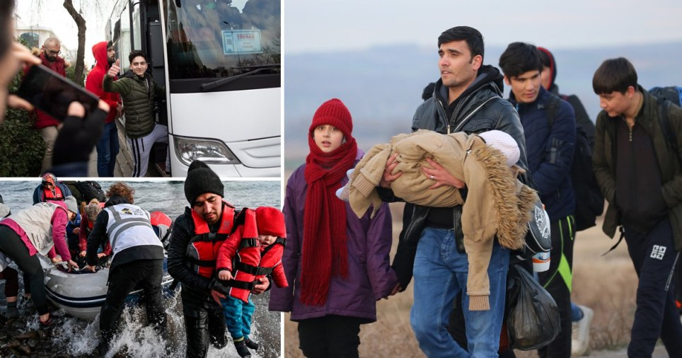 Syrian, Iranian, Iraqi, Moroccan and Pakistani refugees are understood to be gathering at the border with Greece