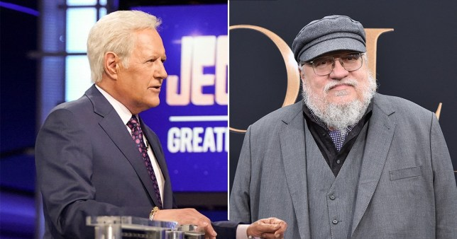 George RR Martin and Jeopardy host Alex trebek