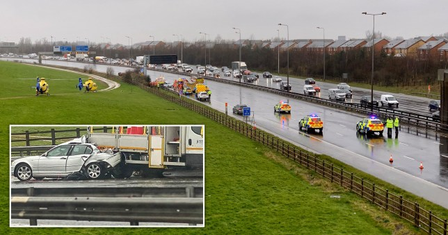 Boy, 10, killed and other child, 6, seriously injured in M60 crash