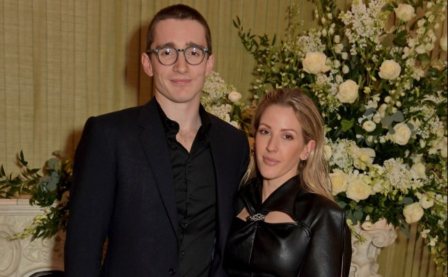 LONDON, ENGLAND - FEBRUARY 02: Caspar Jopling and Ellie Goulding attend the British Vogue and Tiffany & Co. Fashion and Film Party at Annabel's on February 2, 2020 in London, England. (Photo by David M. Benett/Dave Benett/Getty Images)