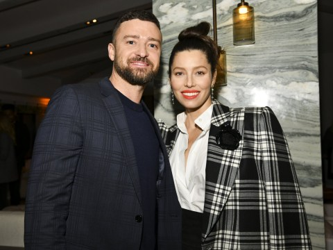 Justin Timberlake and Jessica Biel in sync as they wear matching blazers at The Sinner season 3 premiere