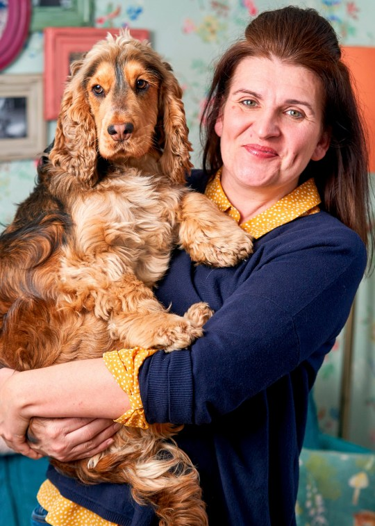 Kelly with her dog Hugo, who has made over 200 escape attempts