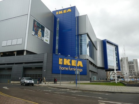 How many Ikea stores are there in the UK and why is the store in Coventry closing?