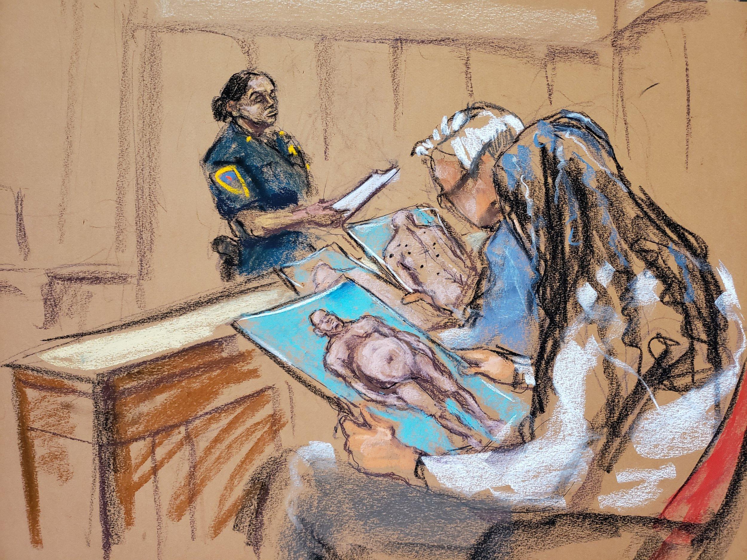 showing jury his penis