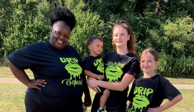 """(L-R) Treka Engleman, 32, Elijah,3, Mercedes, 16, and Alexis,13. Single black woman Treka Engleman, a 32-year-old public school teacher from Cincinnati, Ohio, has faced criticism for adopting 3 white children - but claims that the race of the children shouldn?t matter.See SWNS story SWNYrace. . A single black woman is facing heavy criticism for adopting three white children, but she says that the color of her children shouldn?t matter. Treka Engleman, a 32-year-old public school teacher from Cincinnati, Ohio, said she knew she always wanted to be a foster mom. But she wasn?t prepared for the backlash she would face when raising three white kids. """"I've had people say I must have self hate and that there are a lot of black kids that need homes so why adopt white kids?? she said."""