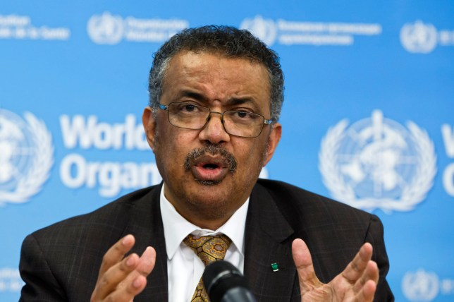 Tedros Adhanom Ghebreyesus, Director General of the World Health Organization (WHO), talks during a press conference, at the World Health Organization headquarters in Geneva, Switzerland, Wednesday, February 5, 2020. WHO Director-General Tedros Adhanom Ghebreyesus urged countries outside China to share more data on infections, saying detailed information has been provided in only 38% of cases. (Salvatore Di Nolfi/Keystone via AP)