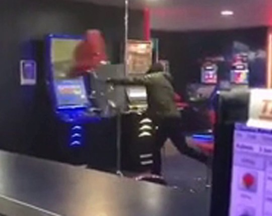 Video: Man smashes up bookies 'after losing ?500'Picture: Tonytnanton