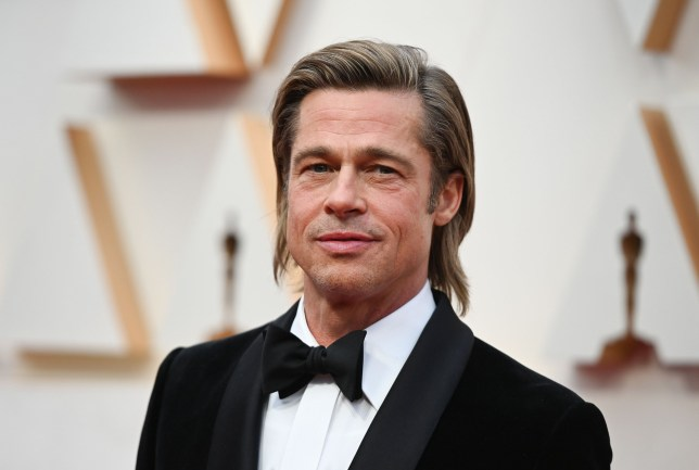 Brad Pitt attending the 2020 Academy Awards in Hollywood