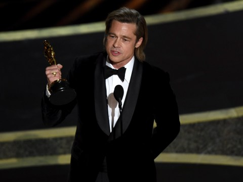 What did Brad Pitt win at the Oscars 2020 and how many times has he been nominated?