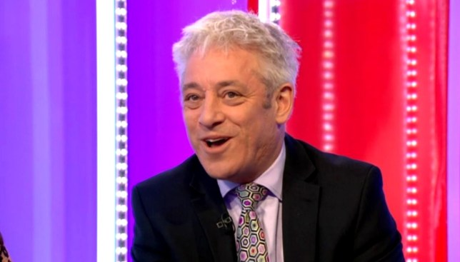 John Bercow on the One Show on February 12, 2020