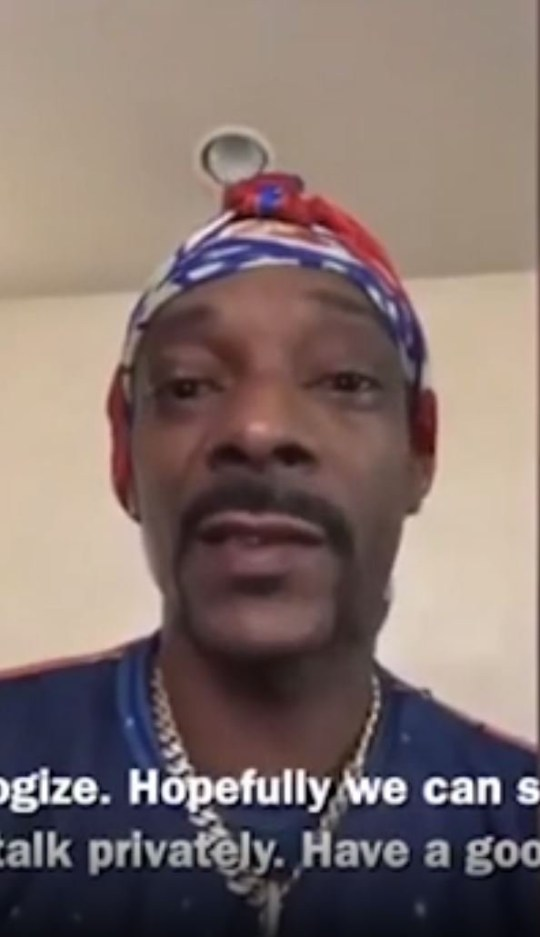 Snoop Dogg apologises to Gayle King over Kobe Bryant question