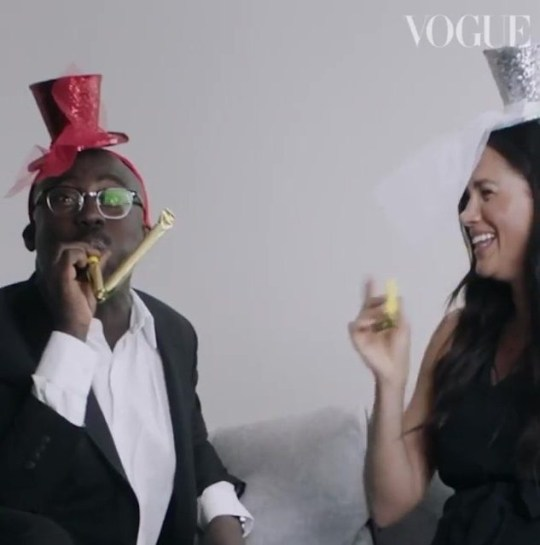 UNCLEARED grabs of Meghan Markle talking to Edward Enninful about her stint as British Vogue guest editor, credit: British Vogue