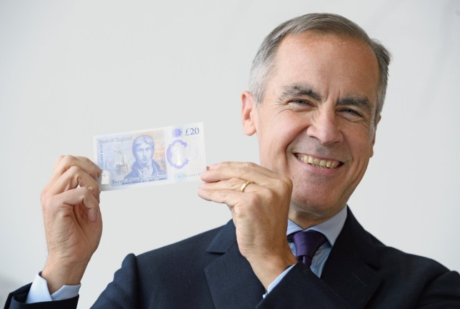 Governor of the Bank of England, Mark Carney, unveils the full design of the new ??20 note featuring JMW Turner at the Turner Gallery, Margate.