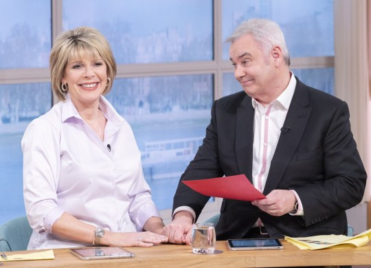 Editorial use only Mandatory Credit: Photo by Ken McKay/ITV/REX (10556622f) Eamonn Holmes and Ruth Langsford 'This Morning' TV show, London, UK - 14 Feb 2020 PHONE IN: EAMONN AND RUTH TACKLE YOUR VALENTINE?S DAY DILEMMAS