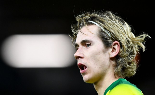 Todd Cantwell is pictured in action for Norwich