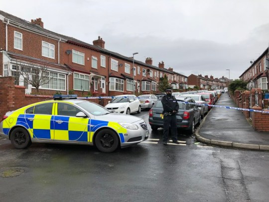 A murder investigation has been launched after a teenager was brutally stabbed to death during street brawl. Cops were called to Cheviot Avenue in Oldham, Greater Manchester, shortly before 4.30am this morning [Feb 16]. Caption: Police on Cheviot Avenue in Oldham, Greater Manchester, where a 19-year-old man was stabbed to death on February 16, 2020