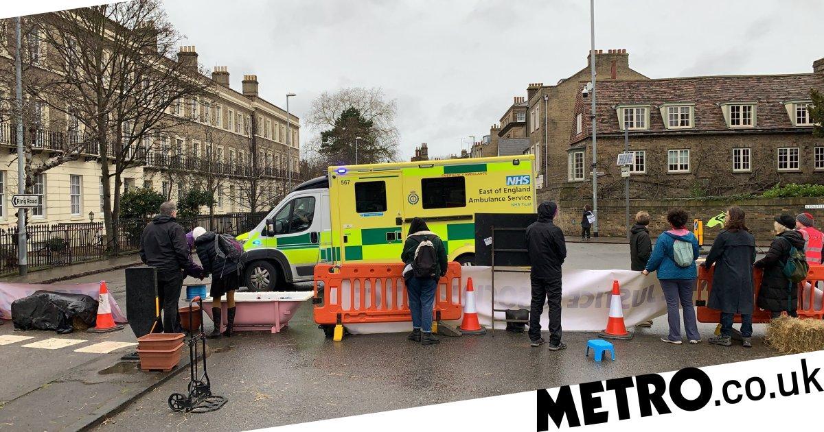 Extinction Rebellion slammed after road blocks stop ambulances getting through