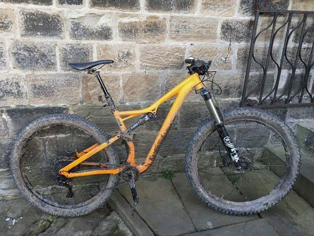 BNPS.co.uk (01202 558833) Pic: AmyBurgess/BNPS A callous thief stole a bicycle which was used during a funeral profession for a late cyclist from outside a church - while mourners were paying their respects inside. NHS worker Daniel Burgess' coffin had been preceded by eight bikes which were ridden by his close friends. But when they went inside for the funeral service, the mountain bike was snatched in Bournemouth, Dorset. His distraught widow Amy Burgess is now appealing for its return.