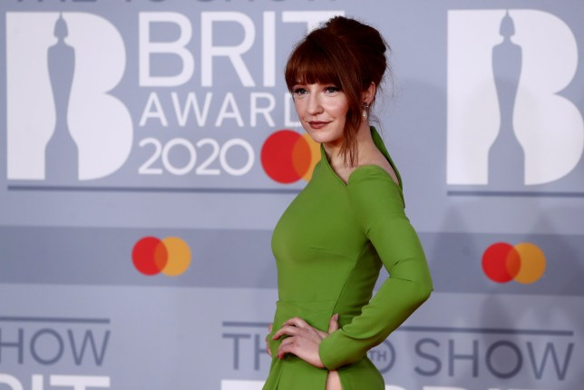 Nicola Roberts poses as she arrives for the Brit Awards at the O2 Arena in London, Britain, February 18, 2020 REUTERS/Simon Dawson