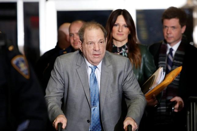 Film producer Harvey Weinstein exits New York Criminal Courtroom for his sexual assault trial in the Manhattan borough of New York City, New York, U.S., February 18, 2020. REUTERS/Eduardo Munoz