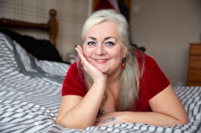 Mandy Jones, 59, at home in Runcorn, Cheshire. A gran has admitted shes having more and better sex than she did in her twenties after two failed marriages and finding her dream man online - and has had a NAUGHTY ANGEL tattooed on her bum to celebrate. Mandy Jones, 59, claims her sex life is better than ever after meeting HGV driver partner Andrew Clayden, 52, on an internet dating site and the pair have since christened every room in her house in Runcorn, Cheshire - including the greenhouse. The retired social worker and mum-of-three had almost given up on love following two divorces but decided to try online dating on a whim and went on dozens of dates before meeting Andrew. SEE MERCURY COPY